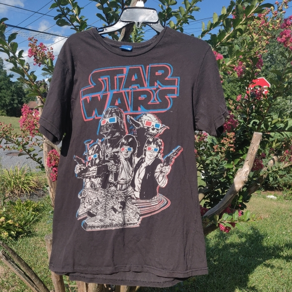 Star Wars Other - Faded Star Wars 3d glasses shirt